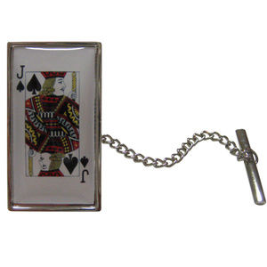 Jack of Spades Card Tie Tack